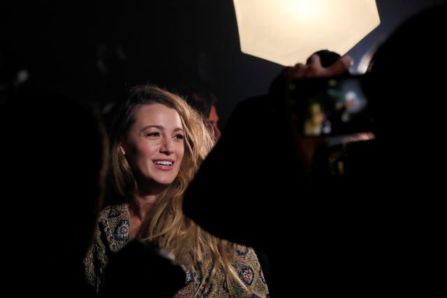 FILE PHOTO: Blake Lively arrives to attend the Spring/Summer 2019 women's ready-to-wear collection show for fashion house Dior during Paris Fashion Week in Paris, France, September 24, 2018. REUTERS/Gonzalo Fuentes
