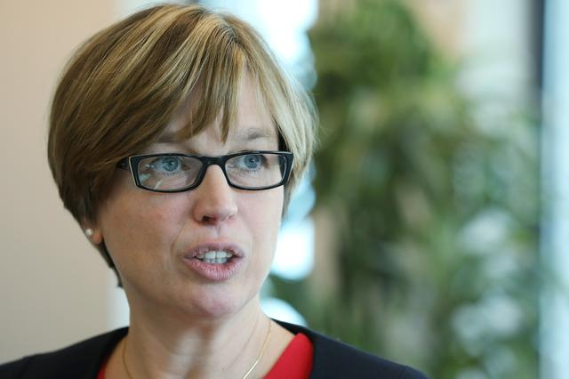 Catherine De Bolle head of European police agency Europol warns in an interview that law enforcement agencies are at risk of falling behind the curve on technology, putting them at a disadvantage to criminals using the dark web and crypto currencies in The Hague, Netherlands, July 16, 2019. REUTERS/Eva Plevier