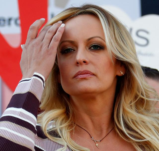 FILE PHOTO: Adult film actress Stormy Daniels attends the Venus erotic fair in Berlin, Germany, October 11, 2018. REUTERS/Fabrizio Bensch