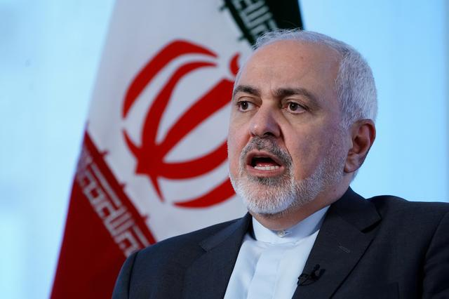 FILE PHOTO: Iran's Foreign Minister Mohammad Javad Zarif sits for an interview with Reuters in New York, New York, U.S. April 24, 2019.   REUTERS/Carlo Allegri/File Photo