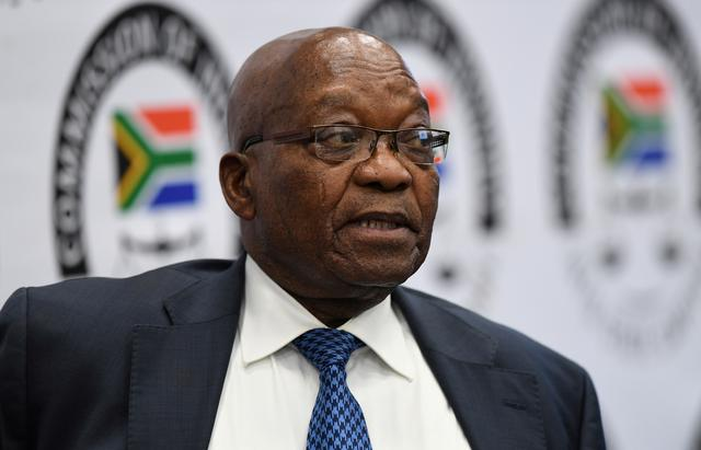 FILE PHOTO: Former South African President Jacob Zuma appears before the Commission of Inquiry into State Capture in Johannesburg, South Africa, July 16, 2019. Pool via REUTERS/File Photo