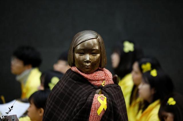 A statue symbolising former South Korean 'comfort women' is seen in Seoul, South Korea, March 1, 2017.  REUTERS/Kim Hong-Ji