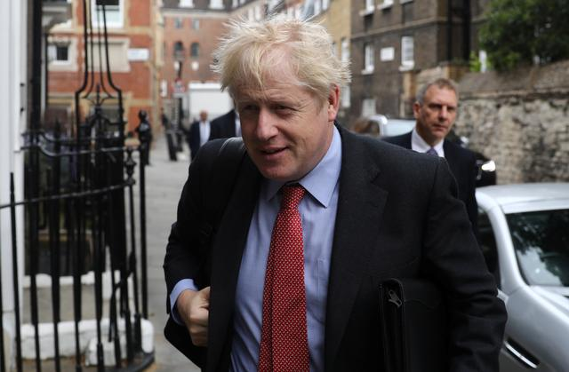 Boris Johnson, a leadership candidate for Britain's Conservative Party, arrives at offices in central in London, Britain, July 19, 2019. REUTERS/Simon Dawson
