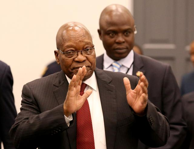 Former South African President Jacob Zuma arrives to appear before the Commission of Inquiry into State Capture in Johannesburg, South Africa, July 19, 2019. REUTERS/Mike Hutchings