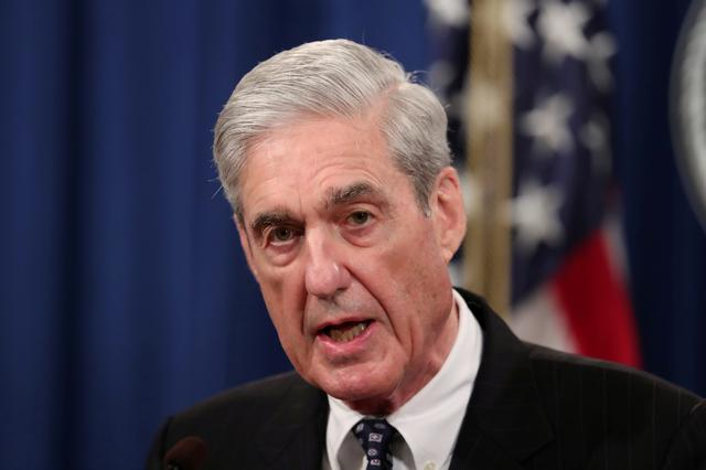 FILE PHOTO: U.S. Special Counsel Robert Mueller makes a statement on his investigation into Russian interference in the 2016 U.S. presidential election at the Justice Department in Washington, U.S., May 29, 2019. REUTERS/Jim Bourg