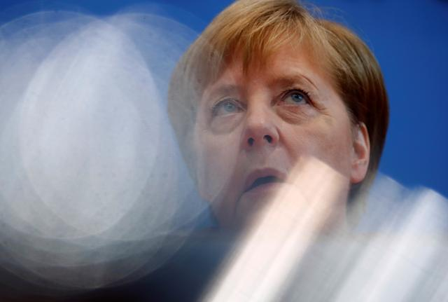 German Chancellor Angela Merkel holds the annual summer news conference in Berlin, Germany, July 19, 2019. REUTERS/Hannibal Hanschke