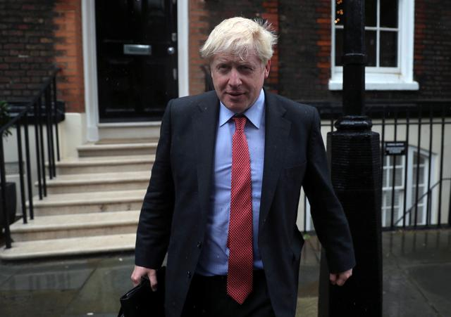 Boris Johnson, a leadership candidate for Britain's Conservative Party, leaves offices in central in London, Britain, July 19, 2019. REUTERS/Simon Dawson