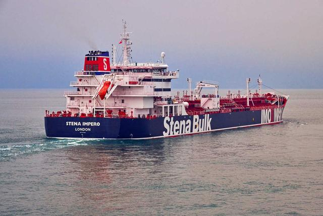 Undatedhandout photograph shows theStenaImpero, a British-flagged vessel owned byStenaBulk, at anundisclosedlocation, obtained by Reuters on July 19, 2019. Stena Bulk/via REUTERS