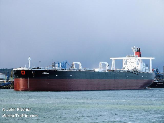 Undated photograph shows the Mesdar, a British-operated oil tanker in Fawley, Britain obtained by Reuters on July 19, 2019.  JOHN PITCHER/via REUTERS