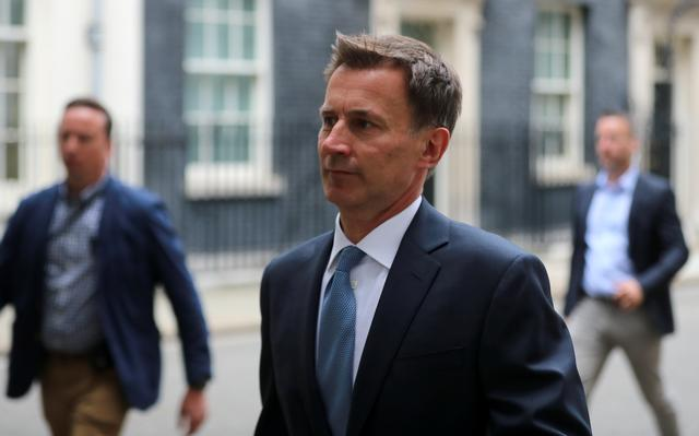 Britain's Foreign Secretary Jeremy Hunt is seen outside Downing Street in London, Britain July 20,2019. REUTERS/Simon Dawson