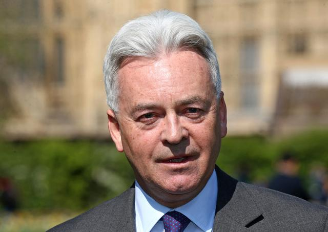 FILE PHOTO: Britain's Minister of State for Europe and the Americas Alan Duncan attends a news conference in Victoria Gardens, Westminster, London, Britain April 11, 2019. Yui Mok/Pool via REUTERS/File Photo