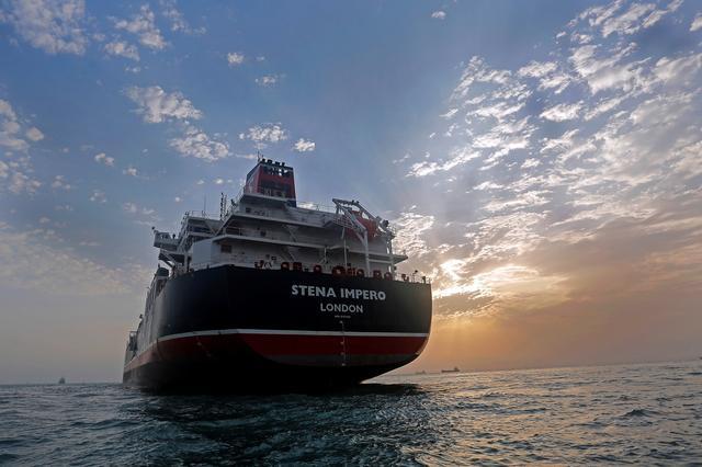 FILE PHOTO - Stena Impero, a British-flagged vessel owned by Stena Bulk, is seen at Bandar Abbas port, July 21, 2019. Picture taken July 21, 2019. Iran, Mizan News Agency/WANA Handout via REUTERS