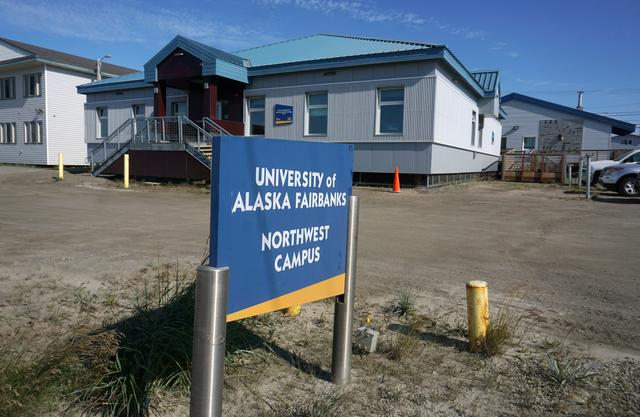The University of Alaska Fairbanks satellite campus is shown in Nome, Alaska, U.S., in this photo July 15, 2019 .  Photo taken July 15, 2019.  REUTERS/Yereth Rosen