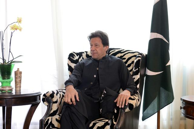 U.S. Secretary of State Mike Pompeo meets with Pakistan's Prime Minister Imran Khan in Washington, U.S., July 23, 2019.      REUTERS/Mary F. Calvert