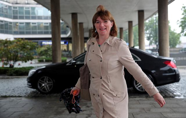 FILE PHOTO - Conservative MP Nicky Morgan arrives at the launch of Britain's Environment Secretary Michael Gove's campaign for the Conservative Party leadership, in London, Britain June 10, 2019. REUTERS/Hannah McKay