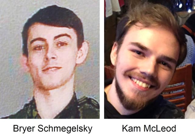 Kam McLeod, 19 and Bryer Schmegelsky, 18 from Port Alberni, named as suspects in the murder of an Australian tourist and his American girlfriend in northern British Columbia, as well as an unidentified man whose body was found near the boys' abandoned flaming car, are seen in undated photos issued by the Royal Canadian Mounted Police (RCMP).  BC RCMP/Handout via REUTERS.  THIS IMAGE HAS BEEN SUPPLIED BY A THIRD PARTY. NO RESALES. NO ARCHIVES