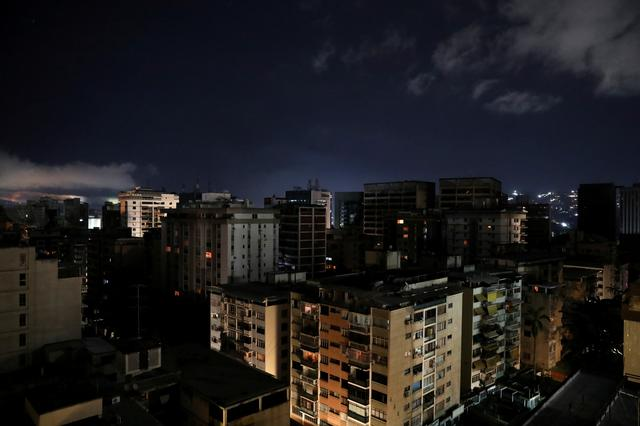 A general view is seen during a blackout in Caracas, Venezuela July 22, 2019. REUTERS/Manaure Quintero