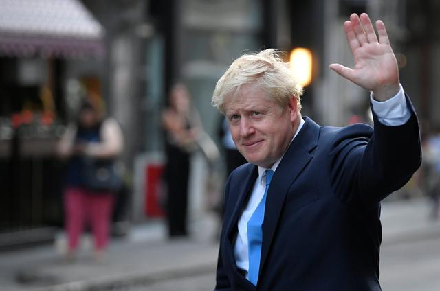 Boris Johnson, leader of the Britain's Conservative Party, leaves a private reception in central London, Britain July 23, 2019. REUTERS/Toby Melville