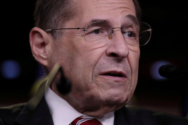 FILE PHOTO: U.S. House Judiciary Committee Chairman Jerrold Nadler (D-NY) leads fellow Democratic House committee chairmen in a news conference to discuss their investigations into the Trump administration on Capitol Hill in Washington, U.S. June 11, 2019.  REUTERS/Jonathan Ernst/File Photo