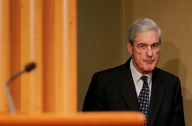 FILE PHOTO: U.S. Special Counsel Robert Mueller arrives to make his first public comments on his investigation into Russian interference in the 2016 U.S. presidential election at the Justice Department in Washington, U.S., May 29, 2019. REUTERS/Jim Bourg/File Photo