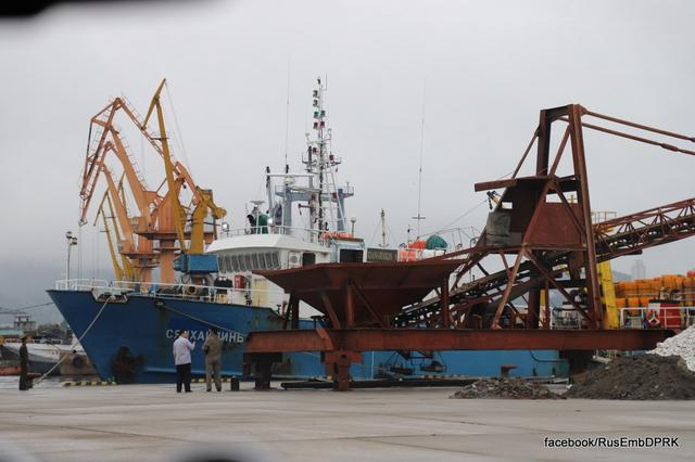 Russian fishing boat Xianghailin-8, which was detained on July 17 by border guards, is docked in the port of Wonsan, North Korea, July 26, 2019. Russian Embassy in the DPRK/Handout via REUTERS