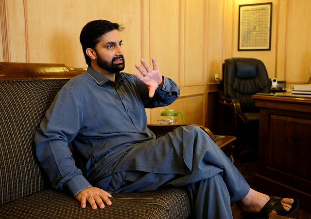 Mirwaiz Umar Farooq, chairman of Kashmir's moderate faction of All Parties Hurriyat (Freedom) Conference (APHC), speaks during an interview with Reuters at his residence in Srinagar, India July 11, 2019. REUTERS/Alasdair Pal
