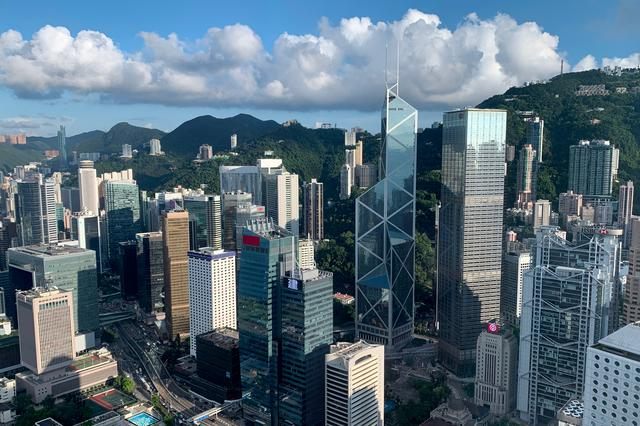 FILE PHOTO: A general view of the financial Central district in Hong Kong, China July 25, 2019. REUTERS/Tyrone Siu /File Photo