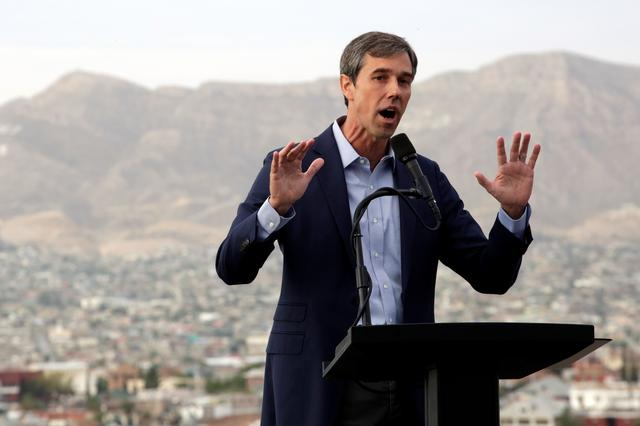 Democratic 2020 U.S. presidential candidate Beto O'Rourke addresses the nation in El Paso, Texas, U.S. August 15, 2019. REUTERS/Jose Luis Gonzalez