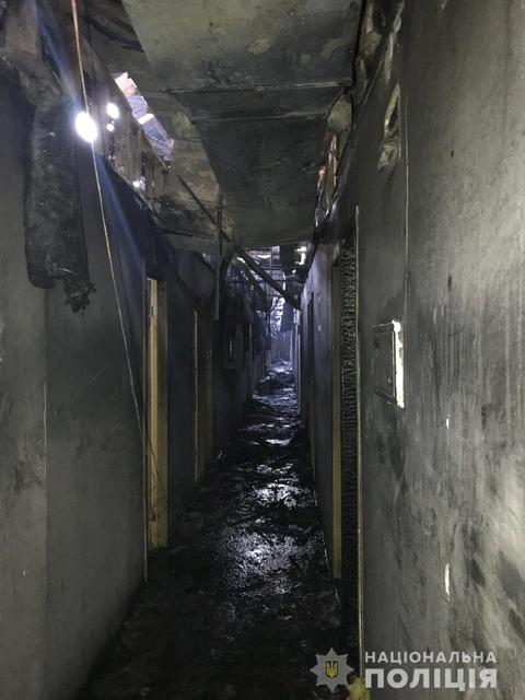 A view shows a corridor of the Tokyo Star hotel that was hit by a heavy fire, in the Black Sea port of Odessa, Ukraine August 17, 2019. National Police of Ukraine/Handout via REUTERS