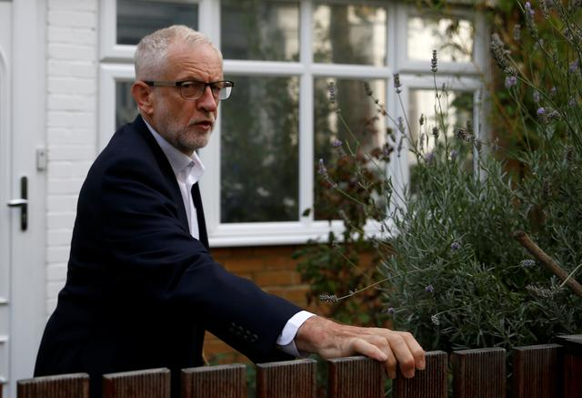 Britain's opposition Labour Party leader Jeremy Corbyn leaves his home in London, Britain August 19, 2019.  REUTERS/Henry Nicholls