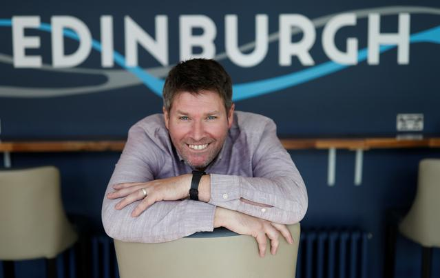 Comedian Mark Nelson poses for a photograph during an interview in Edinburgh, Scotland, Britain August 13, 2019.  REUTERS/Russell Cheyne