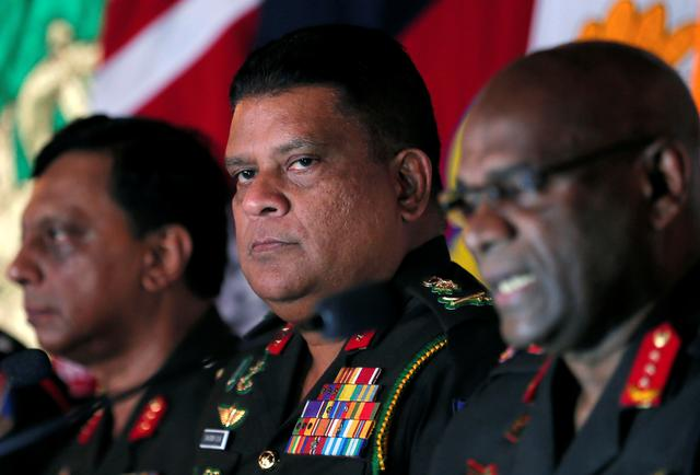 Chief of staff of Sri Lankan army Shavendra Silva attends a news conference in Colombo, Sri Lanka May 16, 2019. Picture taken May 16, 2019. On August 19, 2019 Shavendra Silva was named as army chief. REUTERS/Dinuka Liyanawatte