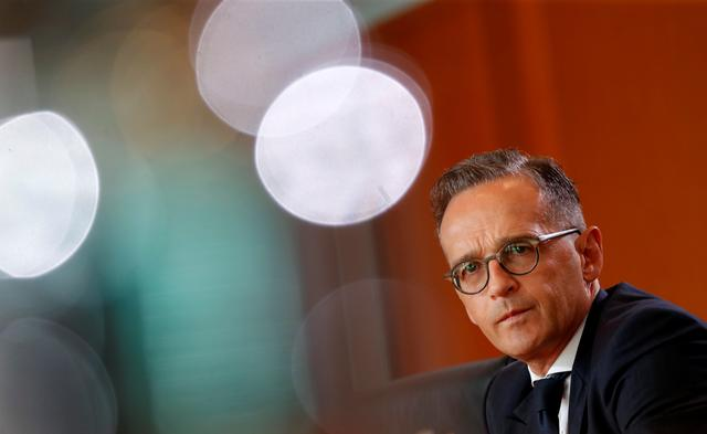 FILE PHOTO: German Foreign Minister Heiko Maas attends the weekly cabinet meeting in Berlin, Germany, July 31, 2019.   REUTERS/Fabrizio Bensch