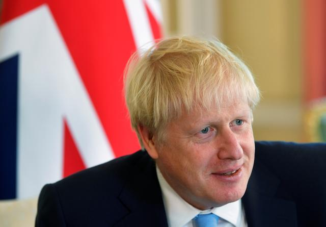 FILE PHOTO: Britain's Prime Minister Boris Johnson attends a meeting with King Abdullah II of Jordan (not pictured) at 10 Downing Street in London, Britain August 7, 2019. REUTERS/Toby Melville/Pool/File Photo