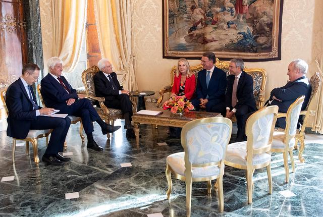 Italian President Sergio Mattarella meets with Juliane Unterberger, member of the Italian Senate in Rome, Italy, August 21, 2019. Paolo Giandotti/Presidential Palace/Handout via REUTERS