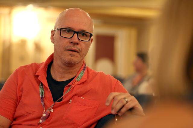 Writer Aleksandar Hemon speaks during interview for Reuters in Sarajevo, Bosnia and Herzegovina August 21, 2019. REUTERS/Dado Ruvic