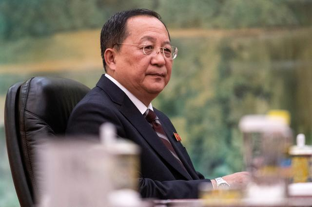 FILE PHOTO: North Korean Foreign Minister Ri Yong Ho attends a meeting with China's President Xi Jinping at the Great Hall of the People in Beijing, China December 7, 2018. Fred Dufour/Pool via REUTERS