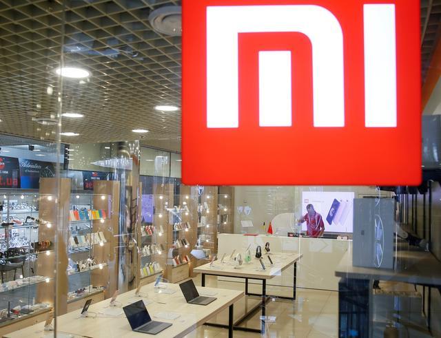 FILE PHOTO: The logo of Xiaomi is seen outside the brand's store in central Kiev, Ukraine August 7, 2018.  REUTERS/Valentyn Ogirenko/File Photo