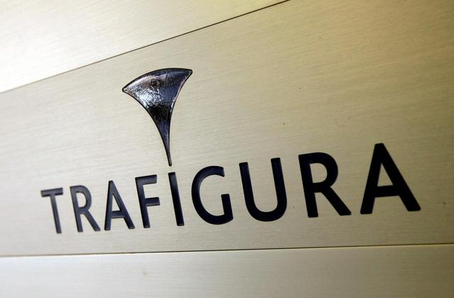 FILE PHOTO: Trafigura logo is pictured in the company entrance in Geneva, Switzerland March 11, 2012. REUTERS/Denis Balibouse