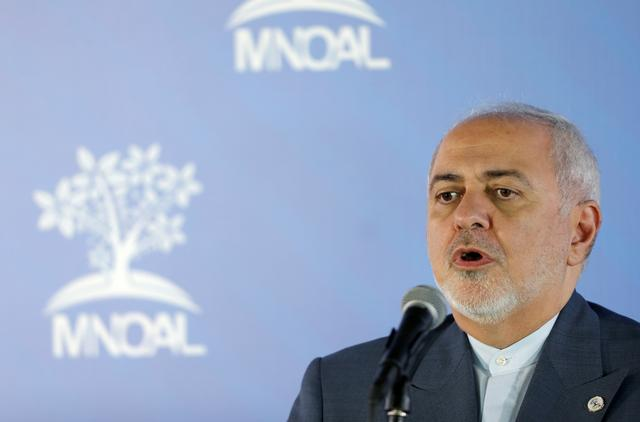 FILE PHOTO: Iranian Foreign Minister Mohammad Javad Zarif speaks to the media during a Non-Aligned Movement meeting in Caracas, Venezuela, July 20, 2019. REUTERS/Manaure Quintero/File Photo