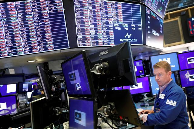 A trader works on the floor of the New York Stock Exchange shortly after the closing bell in New York, U.S., August 23, 2019.  REUTERS/Lucas Jackson