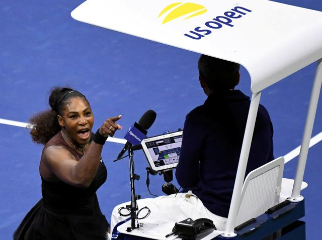 FILE PHOTO: Serena Williams of the United States yells at chair umpire Carlos Ramos in the women's final against Naomi Osaka of Japan on day thirteen of the 2018 U.S. Open tennis tournament at USTA Billie Jean King National Tennis Center in New York, U.S., September 8, 2018. Mandatory Credit: Danielle Parhizkaran-USA TODAY SPORTS