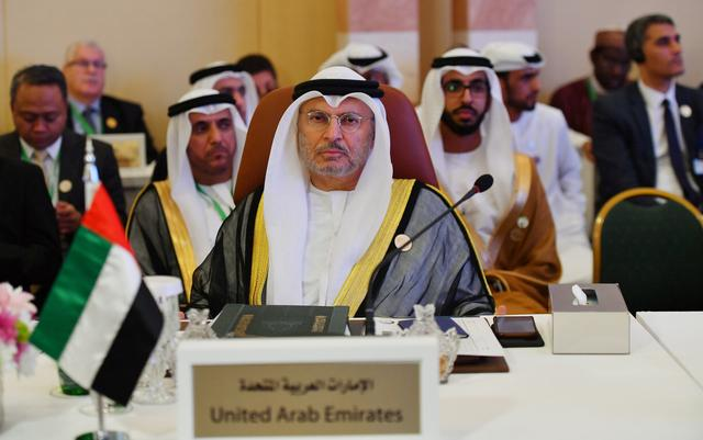 UAE Minister of State for Foreign Affairs Anwar Gargash is seen during preparatory meeting for the GCC, Arab and Islamic summits in Jeddah, Saudi Arabia, May 29, 2019.  REUTERS/Waleed Ali