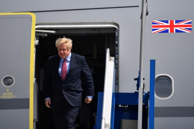 Britain's Prime Minister Boris Johnson arrives in Biarritz for the G7 summit, France, August 24, 2019. REUTERS/Dylan Martinez/Pool