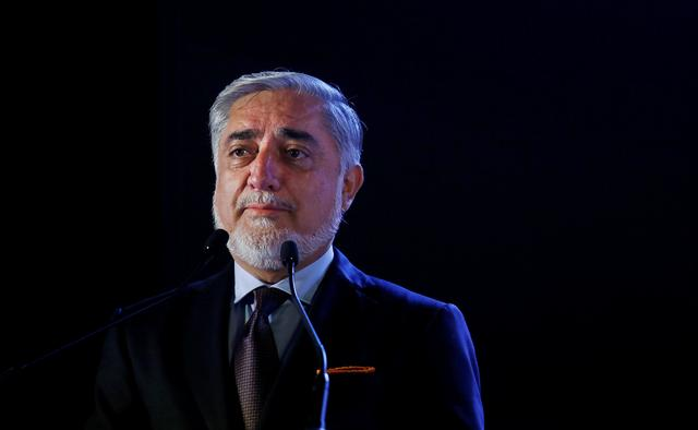 FILE PHOTO: Afghanistan's Chief Executive Abdullah Abdullah speaks at the India-Afghanistan international trade and investment show, in Mumbai, India, September 12, 2018. REUTERS/Francis Mascarenhas/File Photo