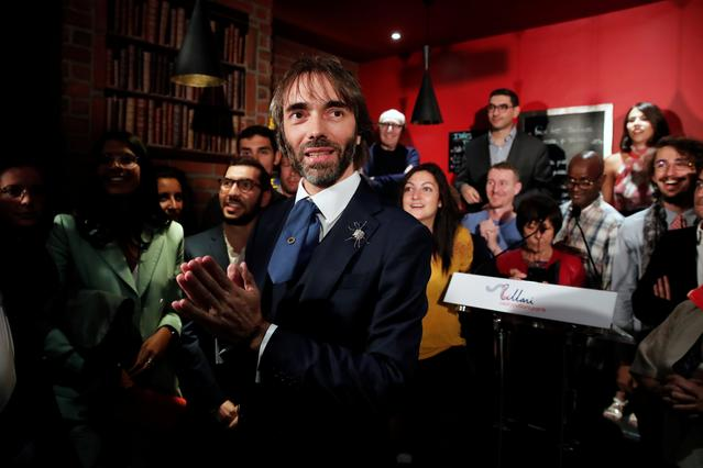 Paris mayoral dissident candidate from La Republique En Marche (LREM) Cedric Villani attends a meeting to announce his candidature in the forthcoming mayoral election in Paris, France, September 4, 2019. REUTERS/Benoit Tessier
