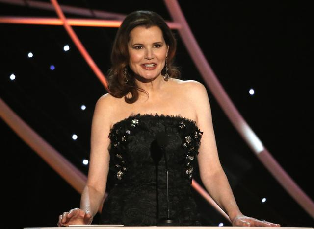 FILE PHOTO: 24th Screen Actors Guild Awards – Show – Los Angeles, California, U.S., 21/01/2018 – Actress Geena Davis speaks on stage. REUTERS/Mario Anzuoni