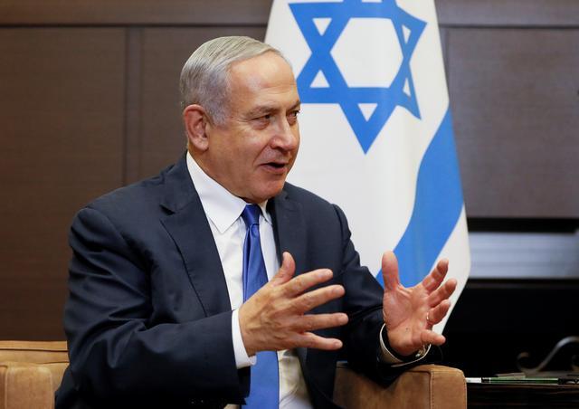 Israeli Prime Minister Benjamin Netanyahu speaks during a meeting with Russian President Vladimir Putin at the Bocharov Ruchei state residence in Sochi, Russia September 12, 2019. REUTERS/Shamil Zhumatov