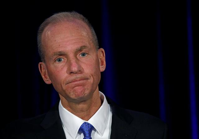 FILE PHOTO: Boeing Co Chief Executive Dennis Muilenburg in Chicago, Illinois, U.S., April 29, 2019. Jim Young/Pool via REUTERS/File Photo