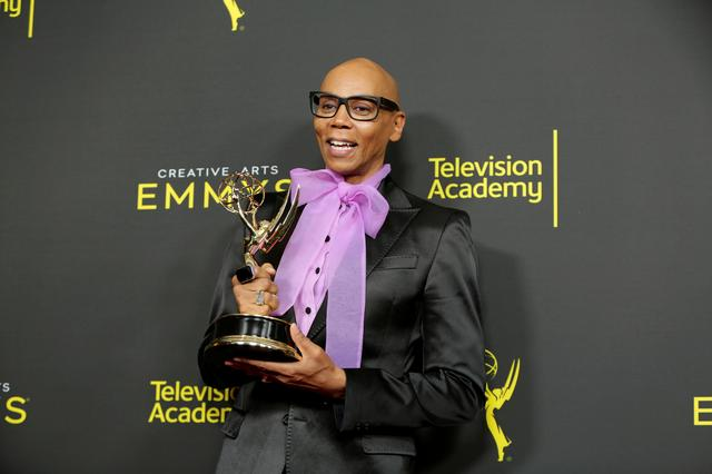 2019 Creative Arts Emmys Awards - Photo Room - Los Angeles, CA, U.S., September 14, 2019 -  RuPaul poses with his Emmy Award for Outstanding Host for a Reality or Competition Program. REUTERS/Monica Almeida